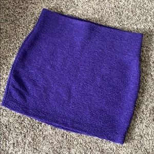BCBG Purple Textured Mini Skirt
